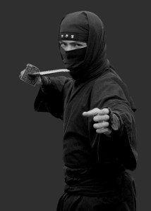 The Ninja really hoped no one noticed that he'd forgotten one of his swords...