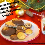 Christmas Cookies – Holiday Dark Chocolate Peppermint Cookies