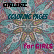 Online Coloring Pages for Girls