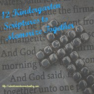 12 Kindergarten Scriptures to Memorize Together