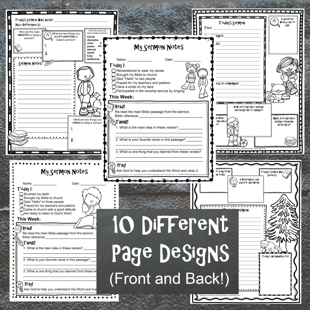 Easy To Use Sermon Notes For Kids That You Can Print Off