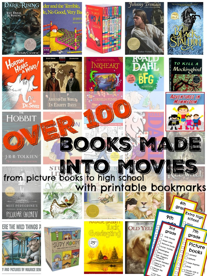 Over 100 Books Made Into Movies To Enjoy With Your Family