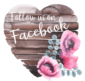 Follow Us on Facebook Wooden Heart Sign