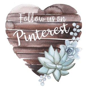 Follow Us on Pinterest Wooden Heart Sign