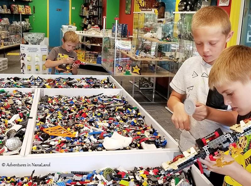 Boys building with LEGO