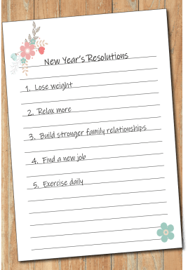 List of new year's resolutions - The Secret to Keeping Your New Year's Resolutions - Adventures in NanaLand