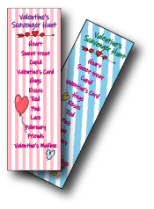Valentine Scavenger Hunt Lists in Pink and Blue - Valentine's Day Ideas for Kids - Adventures in NanaLand