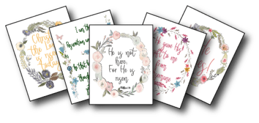 Prints with scriptures about Easter from the New Testament - Adventures in NanaLand