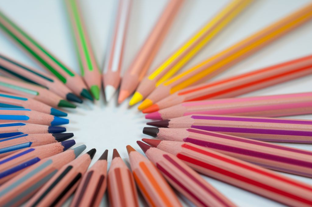 Colored pencils laid in a circle - Adventures in NanaLand