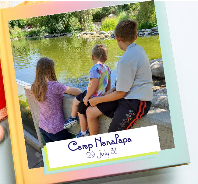 Sample photo book - Grandma Camp Memories - Adventures in NanaLand