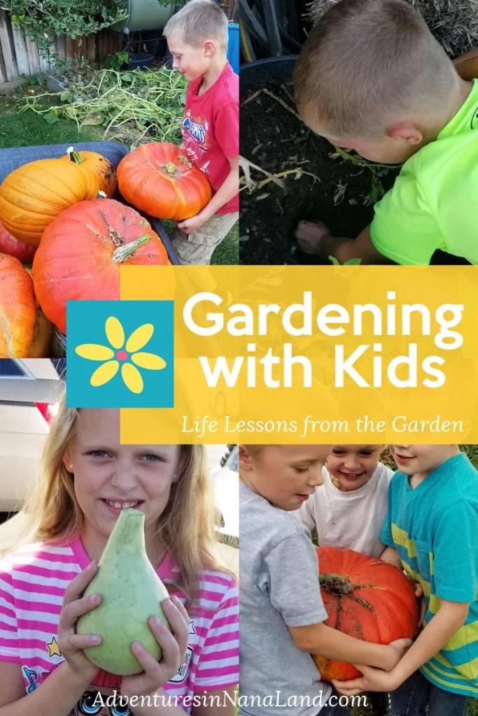Gardening with kids - Adventures in NanaLand