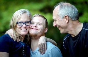 Down syndrome boy with grandparents - Special needs grandchildren and big family gatherings - Adventures in NanaLand