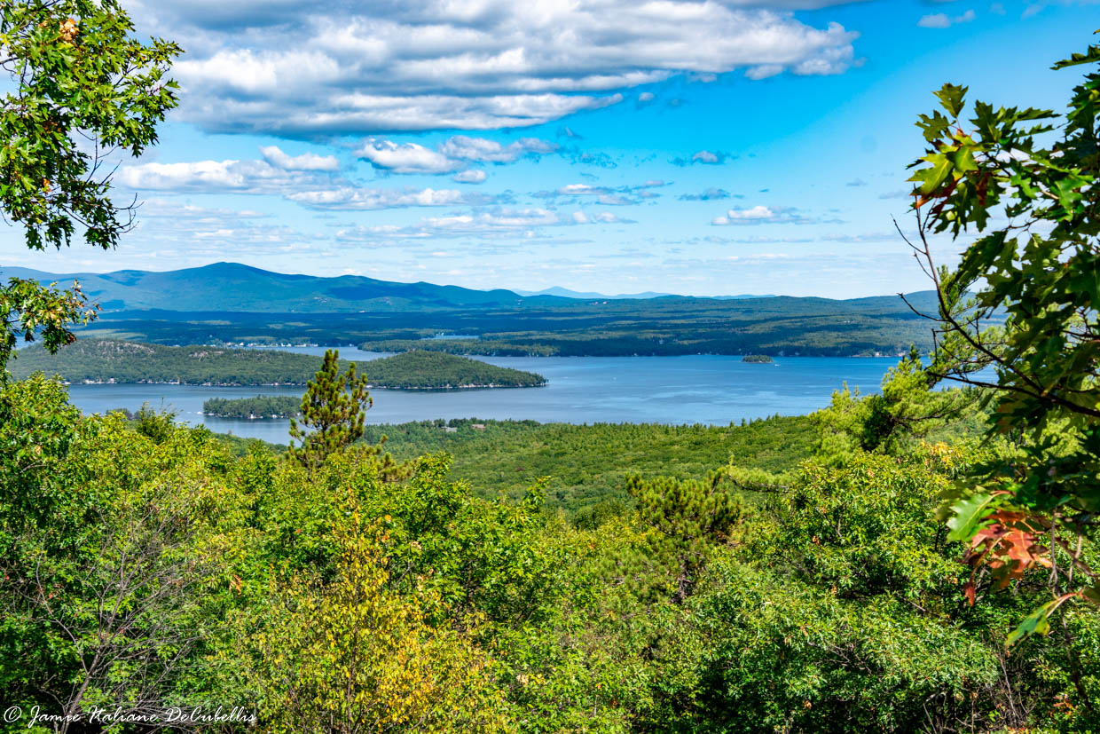 Hike up Mount Major, New Hampshire: Lake and White Mountain Views