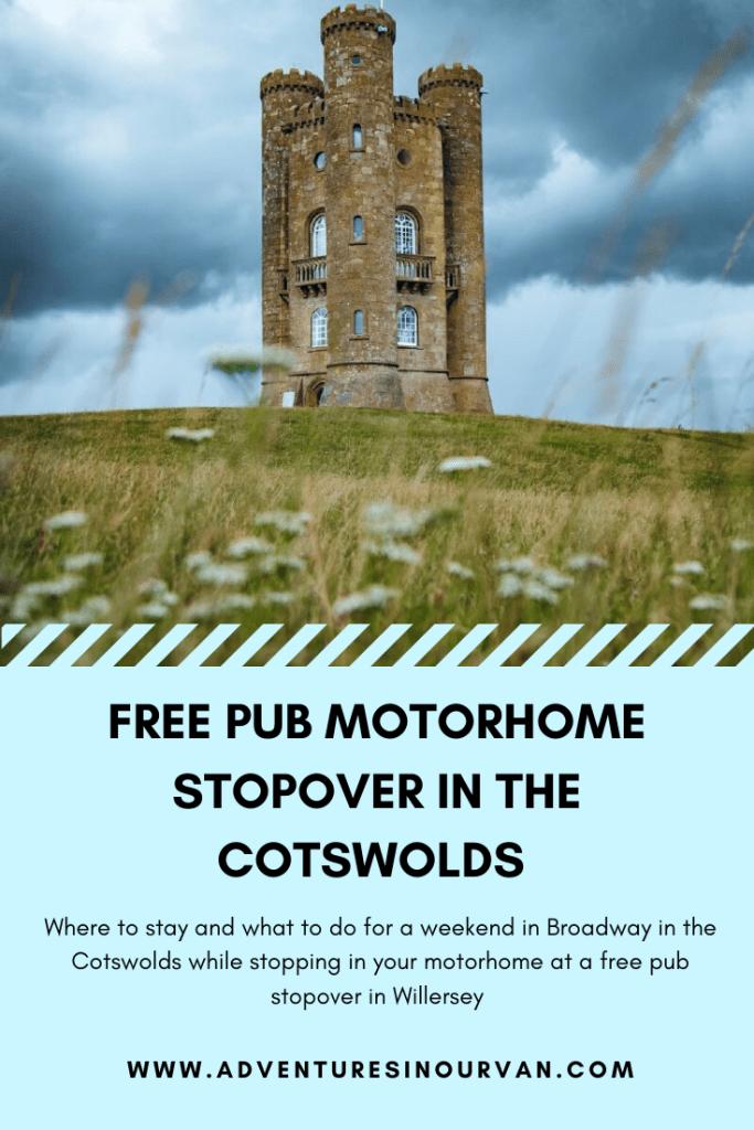 Free pub motorhome stopover on adventures in our van blog