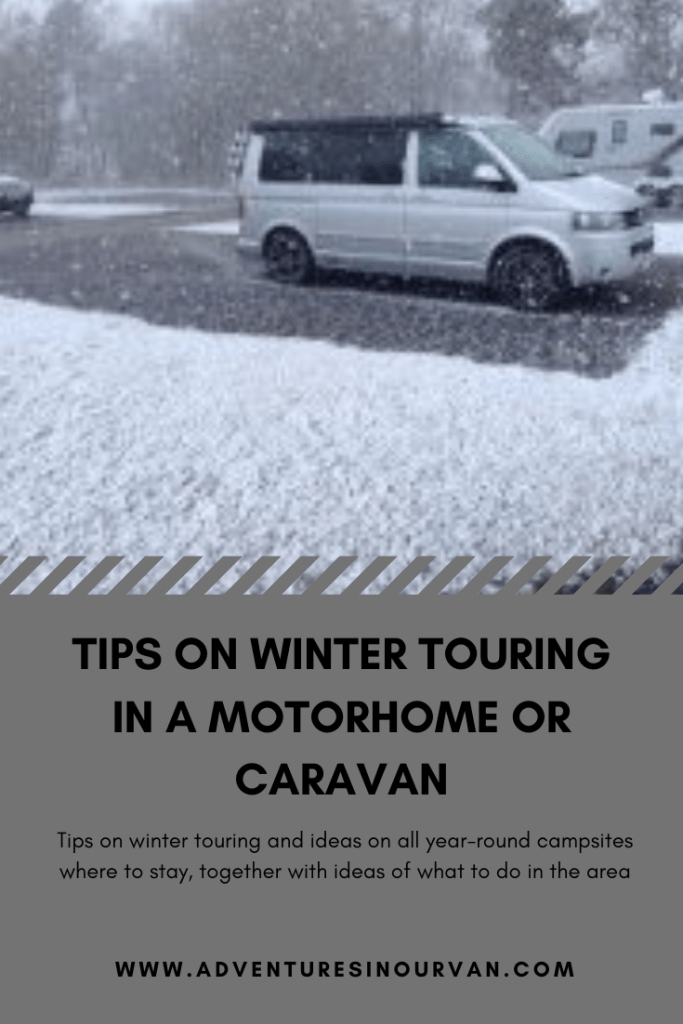 Winter touring tips in your motorhome on adventuresinourvan.com blog