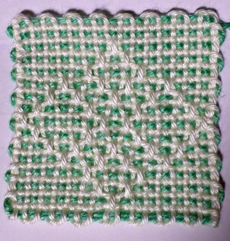 Diamond Path 4 31 X 31 Pattern Adventures In Pin Loom Weaving