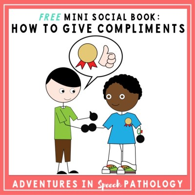 Mini Social Book: How to Give Compliments *Freebie*