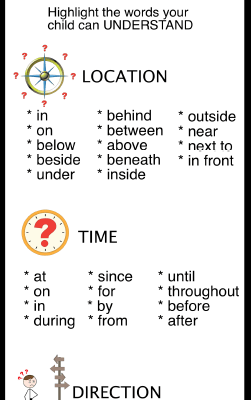 Preposition Checklist *Freebie*