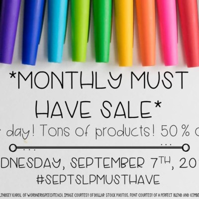 #septSLPMustHave Sale