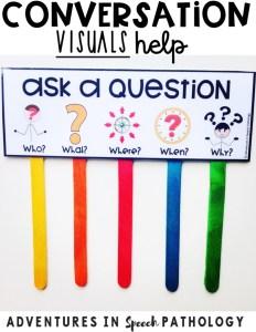 Conversation visuals help