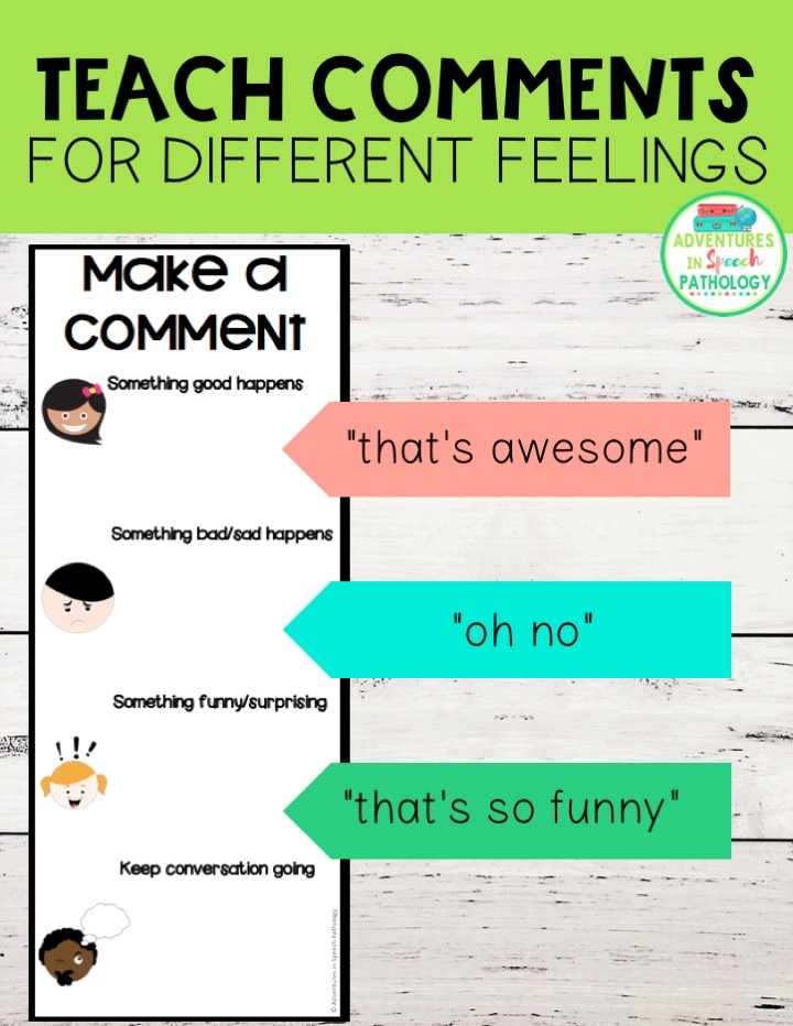 Teach comments for different feelings