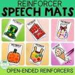 Speech Therapy Reinforcer Mats