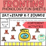 Fronting Phonology Fun Sheets