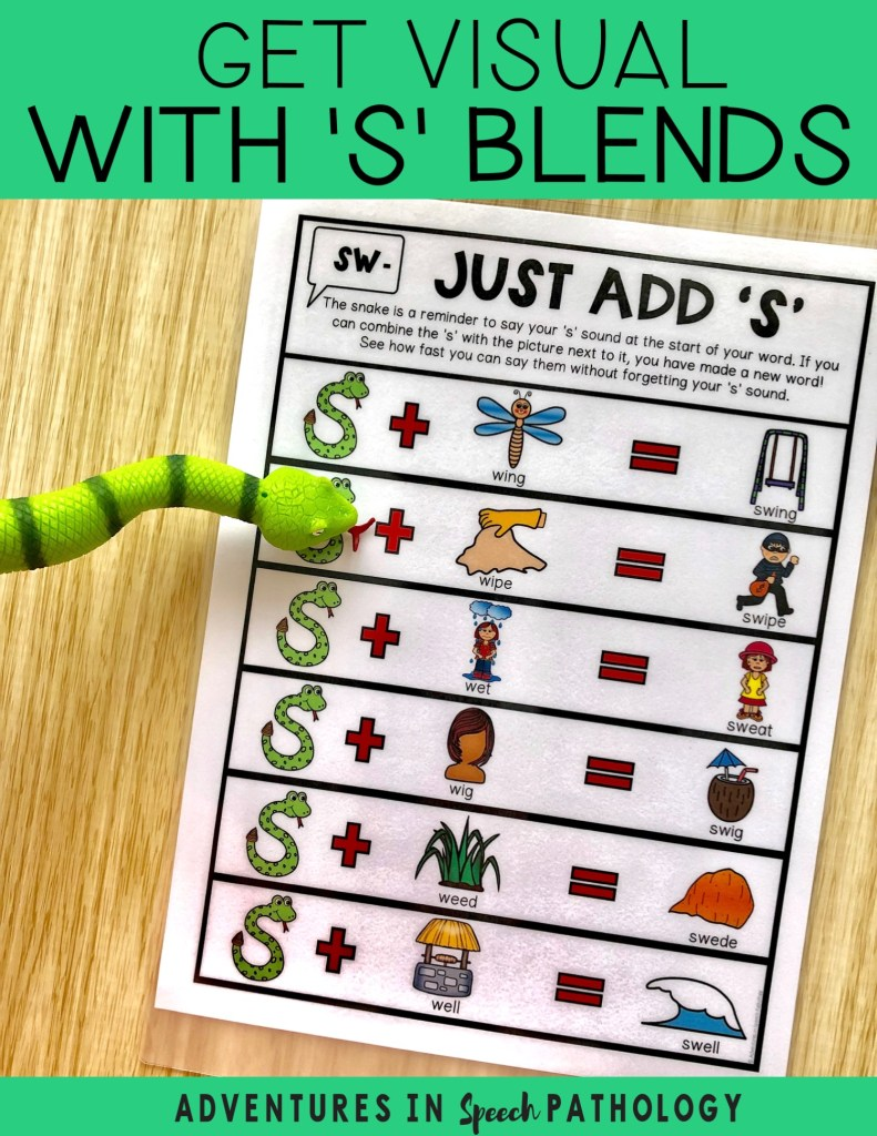 Get visual with 's' blends