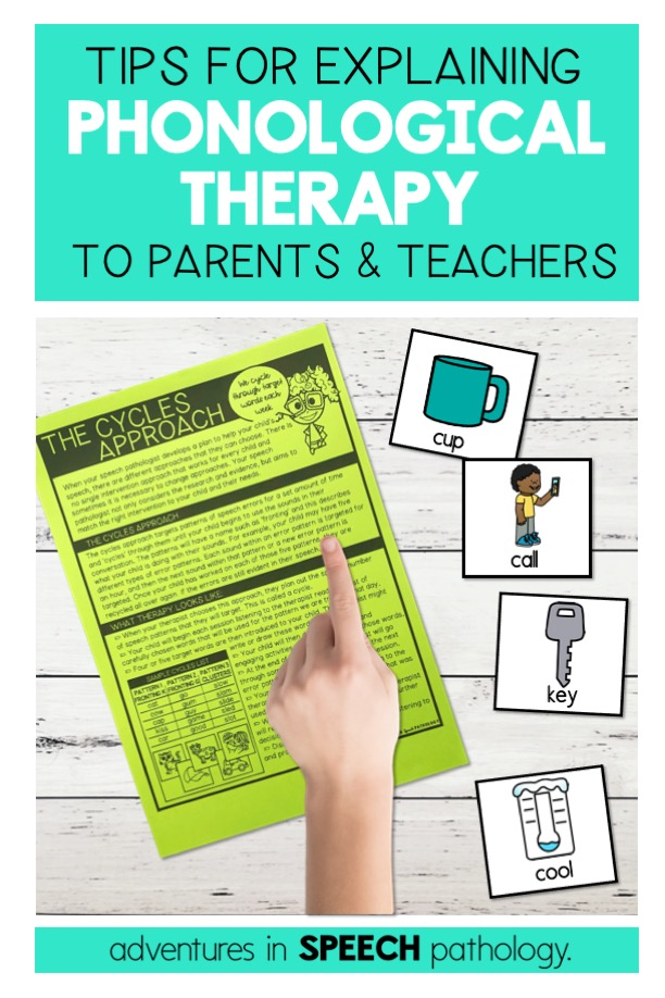 Tips for explaining phonological therapy