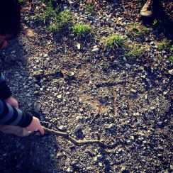 Writing in the dirt