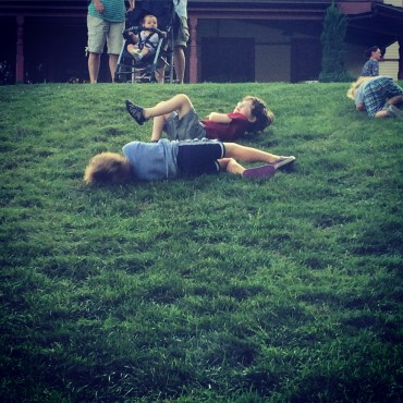 Grass hill rolling
