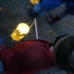 I walk with my little lantern...