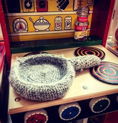 Crocheted pan
