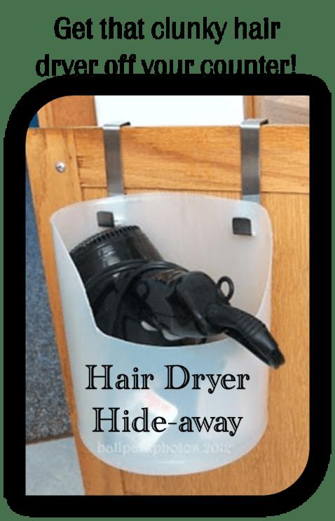 hair dryer hide-away