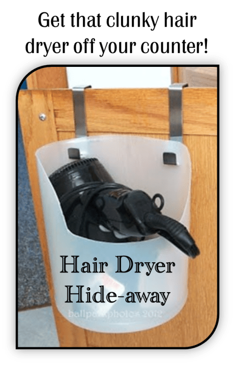 hair dryer hide-away