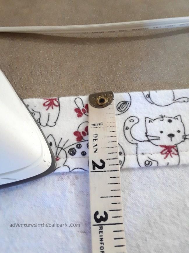 2 inch cuff fold