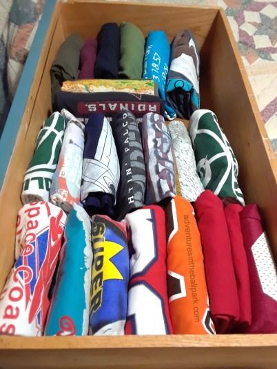 Konmari folded clothes