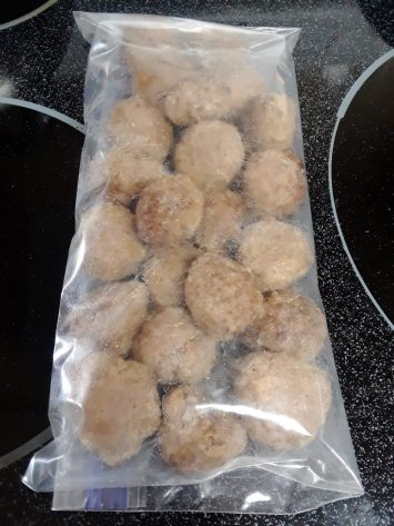 meatballs in ziplock