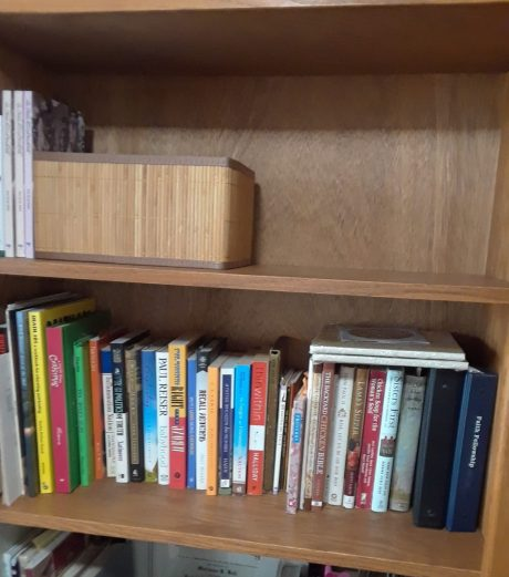 two book shelves