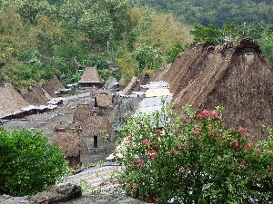 The villages are all laid out with the houses around the edges and small little miniature housess with umbrella structures to represent the families.