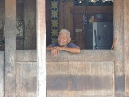 This old man was chatting away to us, telling us to take a photo of him and his house (all in Bahasa of course, his granddaughter translated)