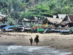 The village on Mawun Beach