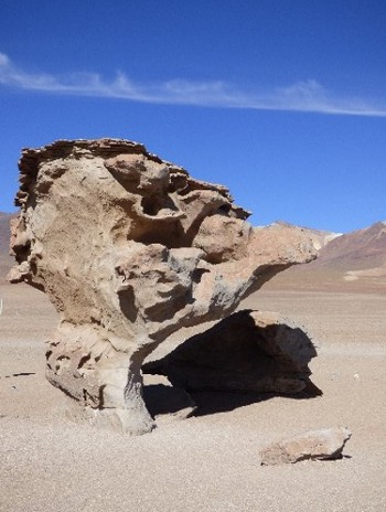 The iconic rock formation of the Dali Desert...