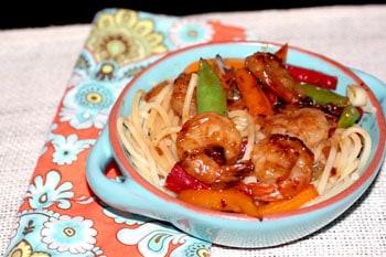 Crackling Shrimp with Lime Coconut Noodles