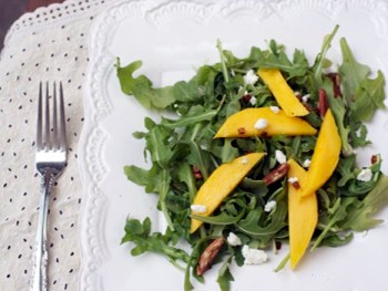 Arugula Mango Salad with Orange Honey Vinaigrette