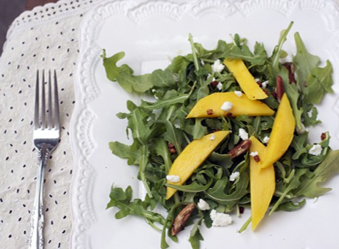 Arugula Mango Salad with Orange Honey Vinaigrette