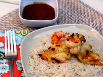 Grilled Shrimp with Fiery Lemongrass Chile Sambal