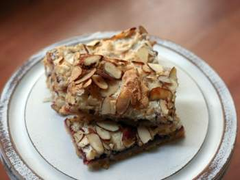 Raspberry Almond Blondies