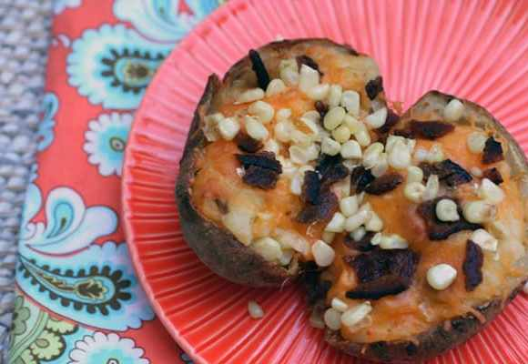 Twice Baked Potatoes with Hatch Chiles