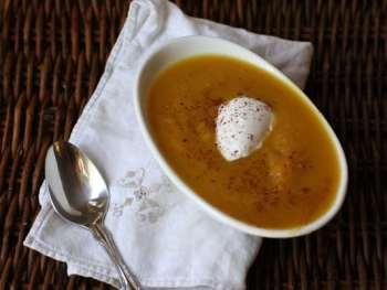 Giving Thanks (Butternut Squash Apple Soup Recipe)